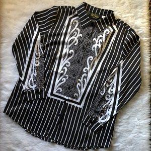 Bob Mackie Wearable Art Button Up Shirt NEW